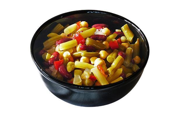 Salade d'haricots variés